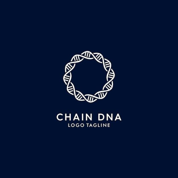 Adn de chaîne logo moderne Vecteur Premium