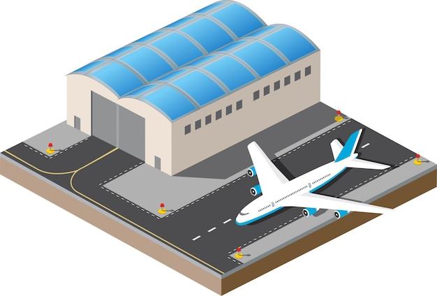 Aéroport Vecteur Premium
