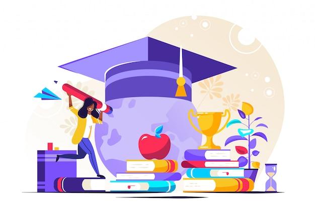 Affaires Bancaires D'investissement Dans L'éducation Vecteur Premium