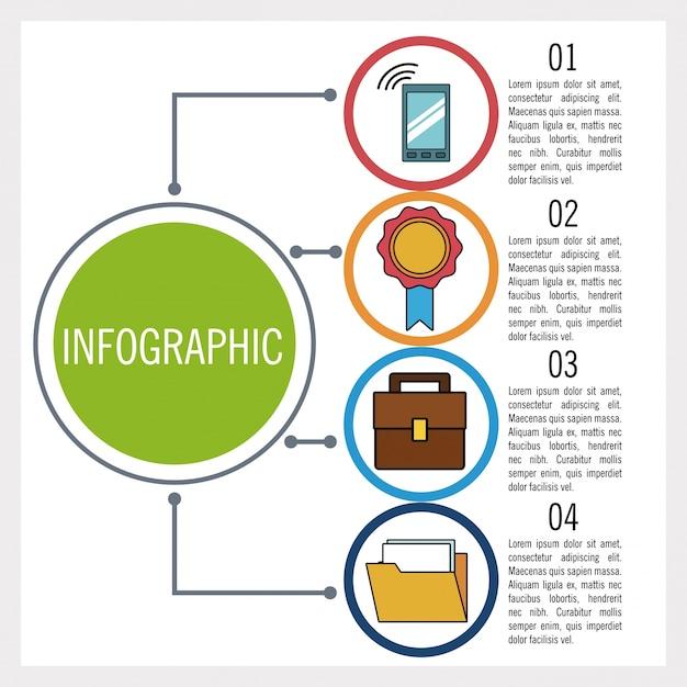 Affaires Et éducation Infographique Vecteur Premium