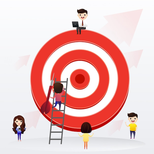 Affaires d'équipe Vecteur Premium