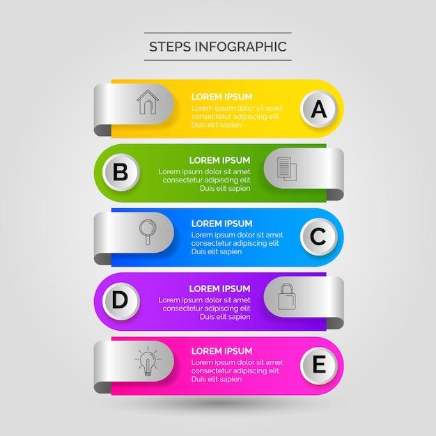 Affaires D'étapes Infographiques Vecteur gratuit
