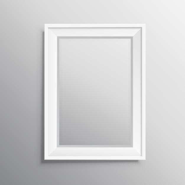 Affichage De Modélisation De Cadre Photo Réel Vecteur gratuit