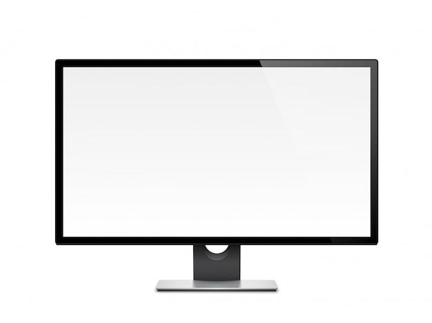 Affichage De L'ordinateur, Moniteur, Réaliste, 3d, Isolé Vecteur Premium