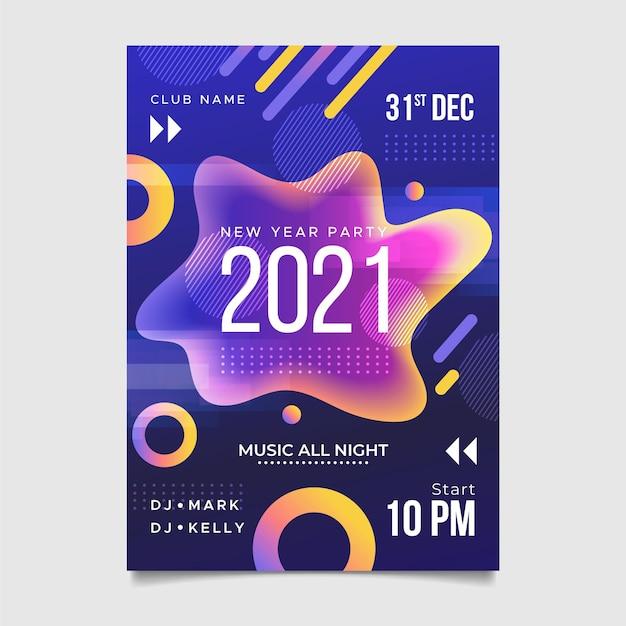 Affiche Abstraite Bonne Année 2021 Vecteur gratuit