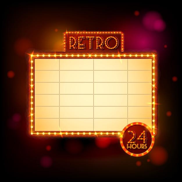 Affiche d'affichage rétro Vecteur gratuit