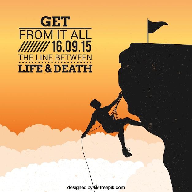 affiche Alpinisme Vecteur gratuit