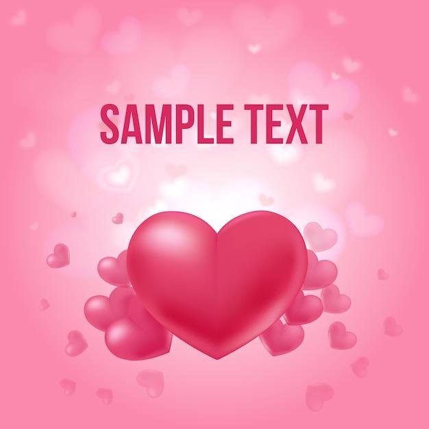 Affiche Amoureuse De La Saint-valentin Vecteur gratuit