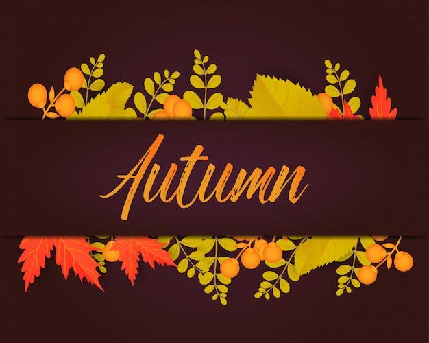 Affiche d'automne Vecteur Premium