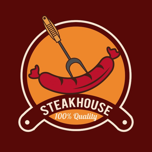 Affiche de barbecue steakhouse Vecteur Premium