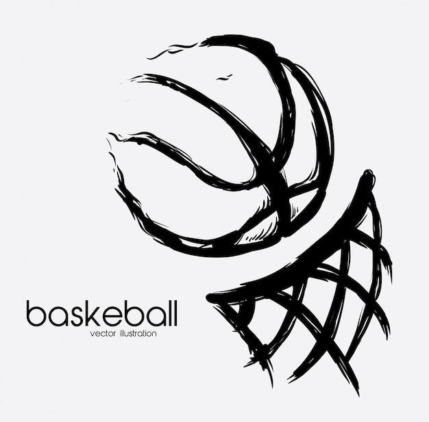 Affiche de basket Vecteur Premium