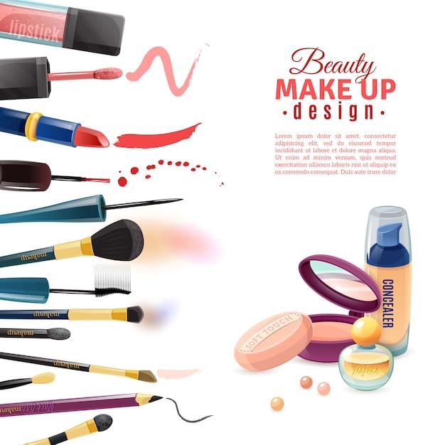 Affiche de beauté cosmétiques Vecteur gratuit