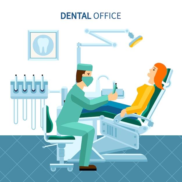 Affiche de cabinet dentaire Vecteur gratuit