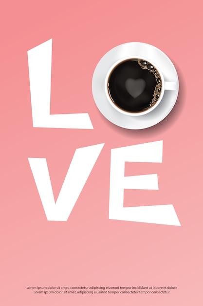 Affiche de café Vecteur Premium