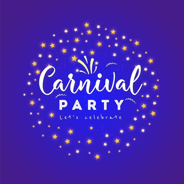 Affiche de carnaval, bannière avec des éléments de fête colorés Vecteur Premium