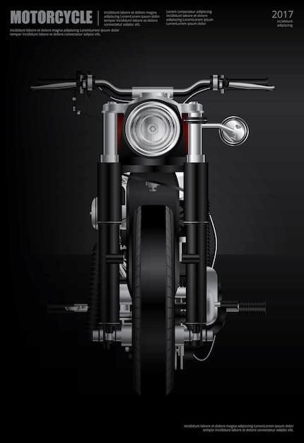 Affiche chopper moto isolé illustration vectorielle Vecteur Premium