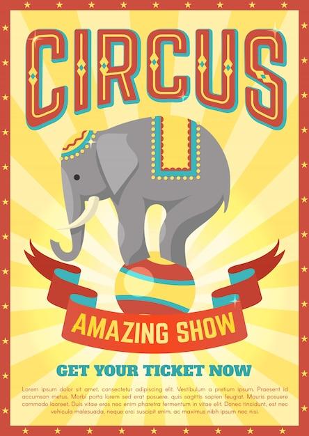 Affiche De Cirque Plat Vecteur gratuit