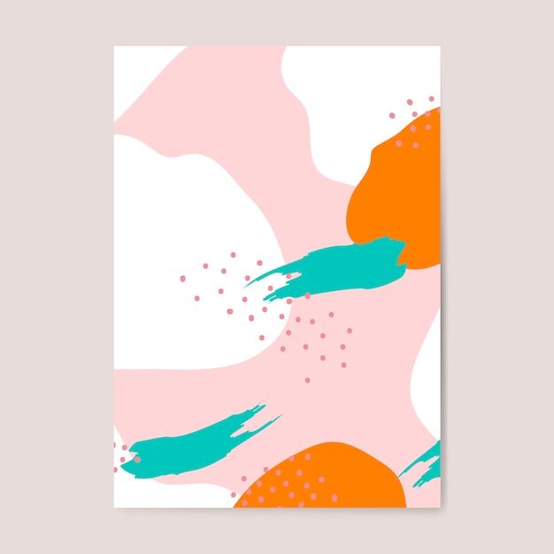 Affiche colorée de style memphis Vecteur gratuit