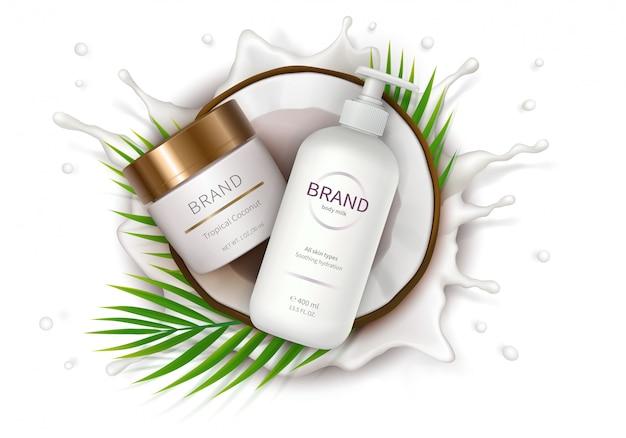 Affiche concept pour crème naturelle bio Vecteur gratuit