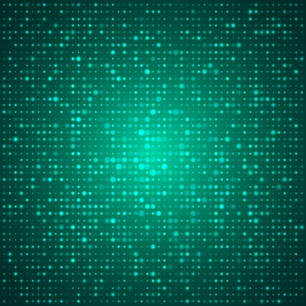 Affiche De Conception Abstraite Technique élégante Avec De Nombreuses Formes Ou Points Ronds Brillants Verts Vecteur gratuit
