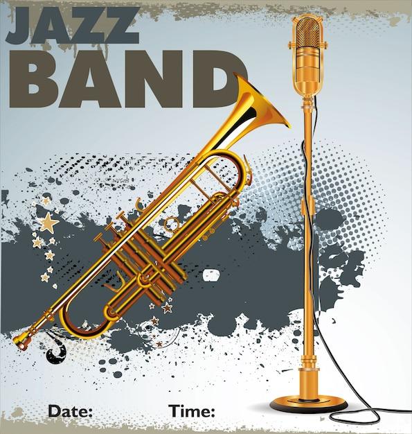 Affiche de concert jazz Vecteur Premium