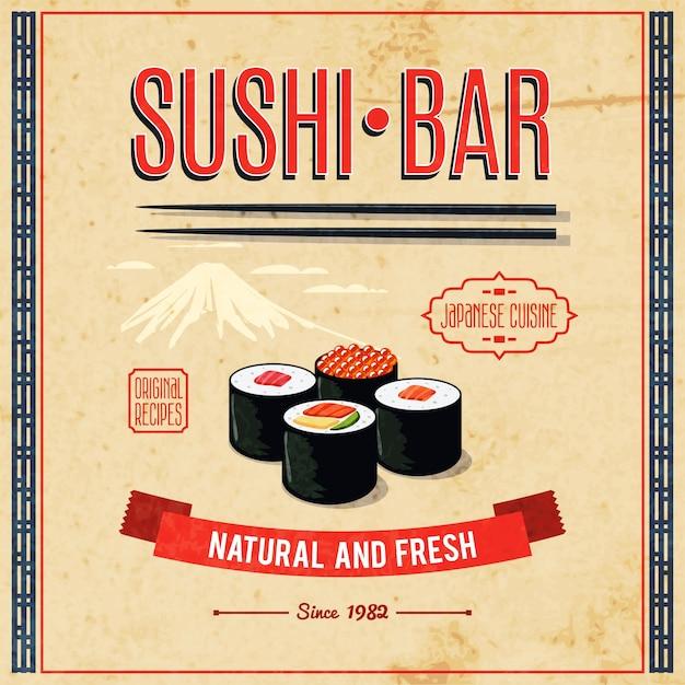 Affiche De Cuisine Asiatique Vecteur gratuit
