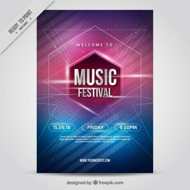 Affiche de fête de la musique Intéressant Vecteur gratuit