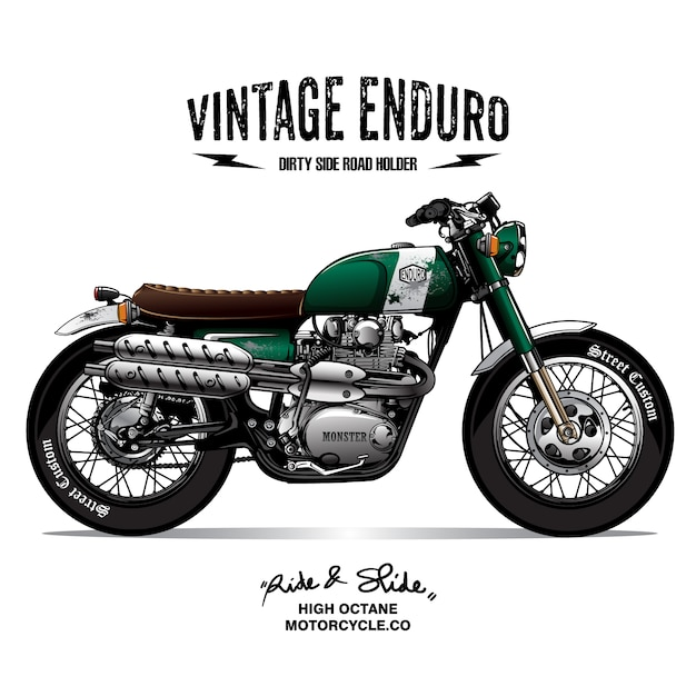 affiche de moto vintage scrambler t l charger des vecteurs premium. Black Bedroom Furniture Sets. Home Design Ideas