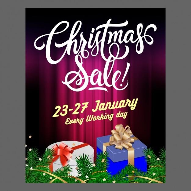 Affiche de vente de no l avec des cadeaux t l charger - Vente de cadeaux de noel ...