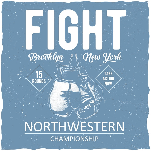 Affiche Du Championnat Du Nord-ouest De Boxe Vecteur gratuit