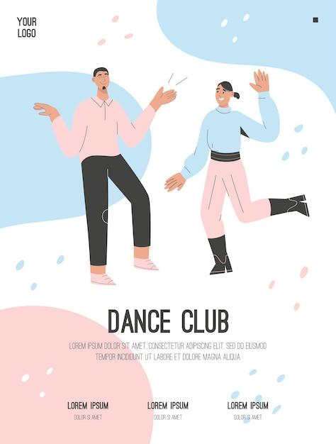 Affiche Du Concept De Club De Danse Vecteur Premium