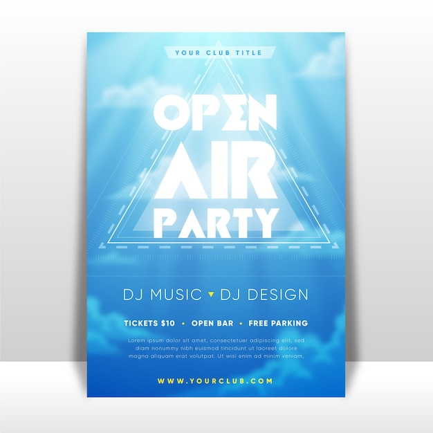 Affiche Du Festival De Musique En Plein Air Vecteur Premium