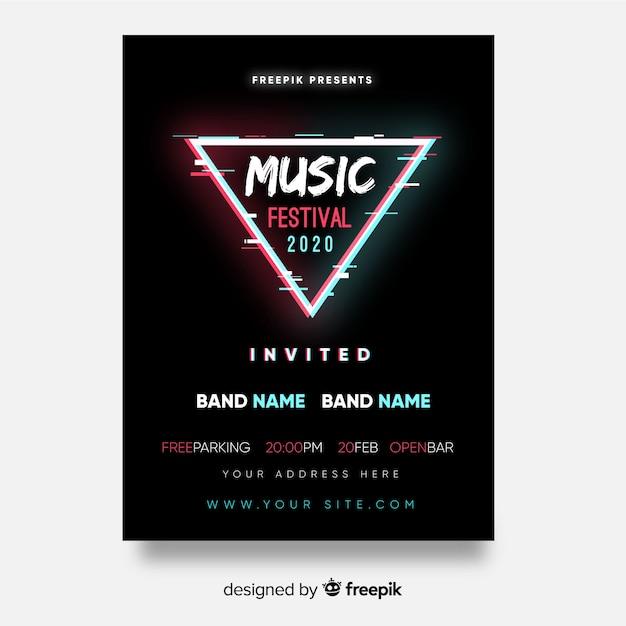 Affiche Du Festival De Musique Triangle Vecteur gratuit