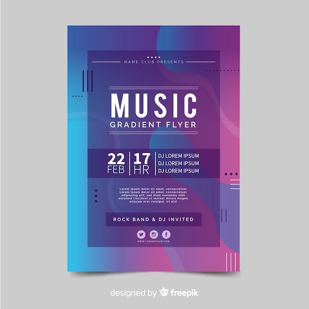 Affiche du festival de musique Vecteur gratuit