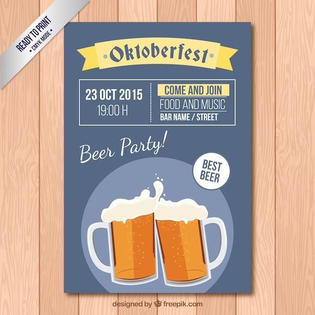 Affiche du festival oktoberfest Vecteur Premium