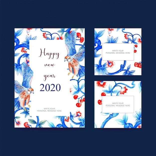 Affiche du nouvel an, carte postale élégante pour la décoration Vecteur Premium
