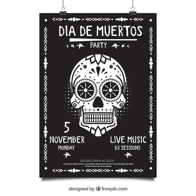 Affiche du parti mexicain avec un style élégant Vecteur gratuit