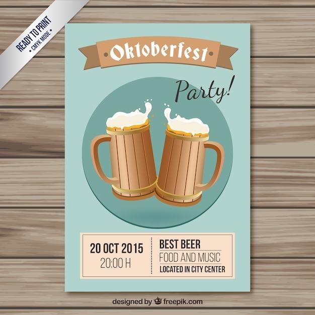 Affiche du parti oktoberfest Vecteur gratuit