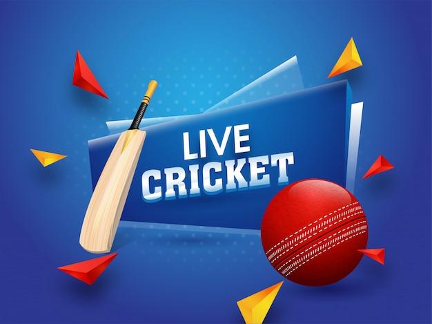 Affiche du tournoi de cricket en direct Vecteur Premium