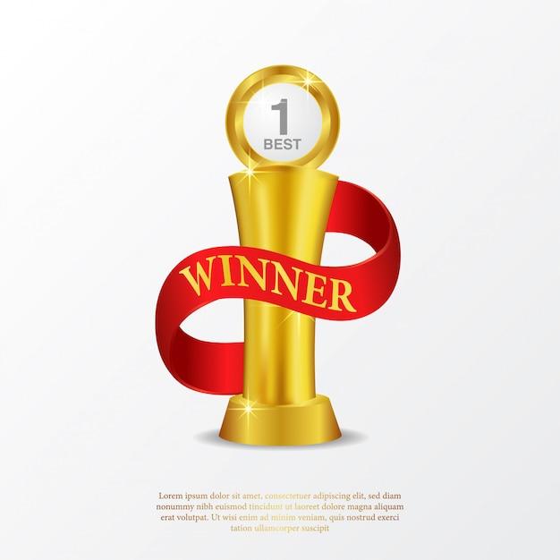 Affiche du trophée champion Vecteur Premium