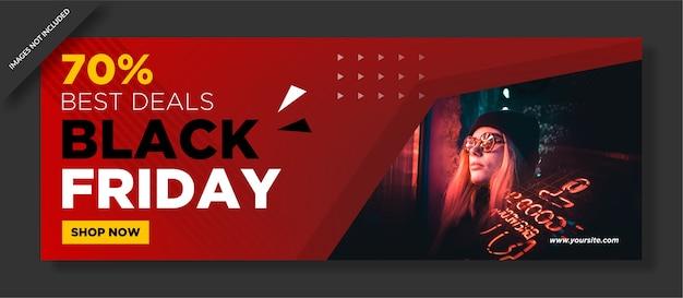 Affiche Du Vendredi Noir Et Publication Sur Les Réseaux Sociaux Vecteur Premium