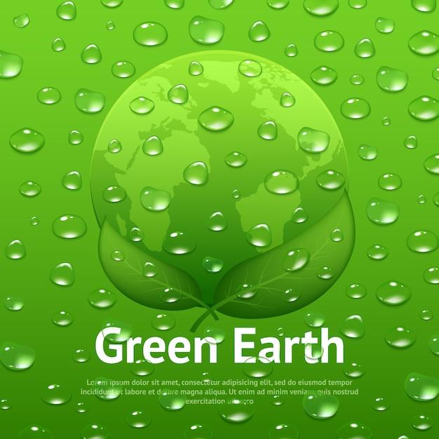 Affiche écologique de gouttes d'eau Vecteur gratuit