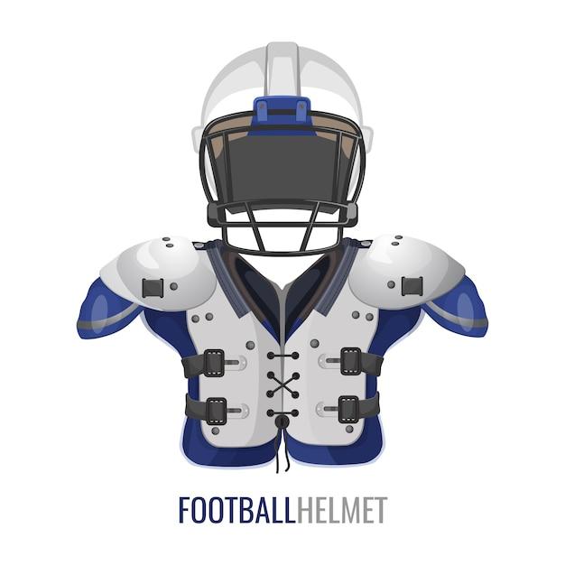 Affiche D'élément De Costume De Football Américain. Vecteur Premium