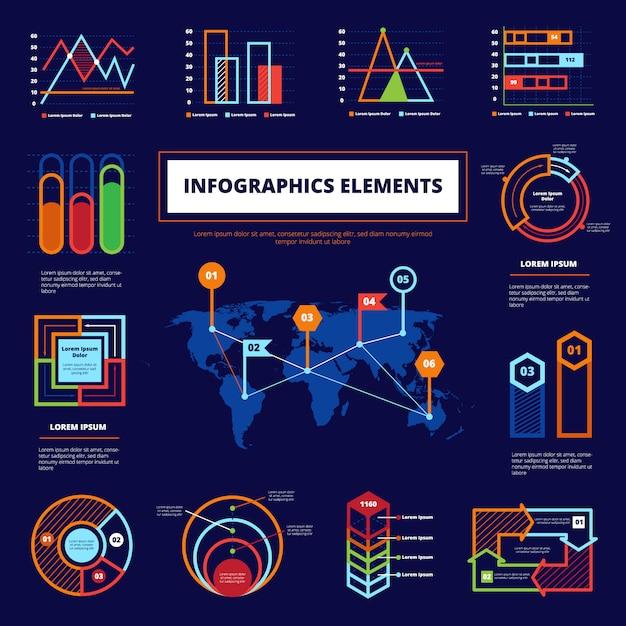 Affiche des éléments infographiques Vecteur gratuit