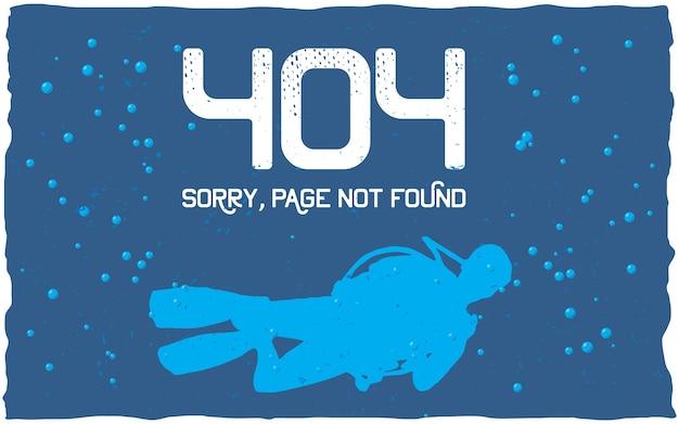 Affiche D'erreur 404 Avec Page Non Trouvée à Utiliser Pour Le Site Web Vecteur gratuit