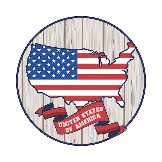 Affiche des états-unis d'amérique Vecteur Premium