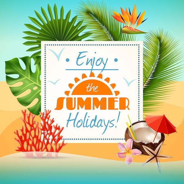 Affiche fête d'été Vecteur gratuit