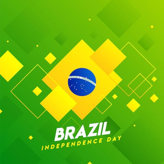 Affiche de la fête de l'indépendance du brésil Vecteur Premium