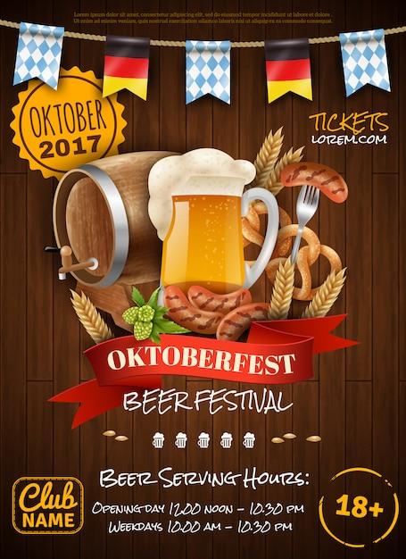 Affiche De Fête D'oktoberfest Vecteur gratuit