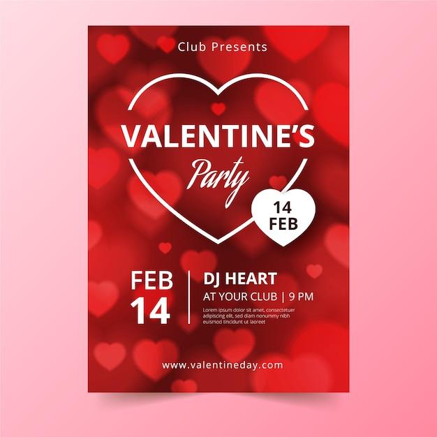 Affiche De Fête De Saint Valentin Vecteur gratuit